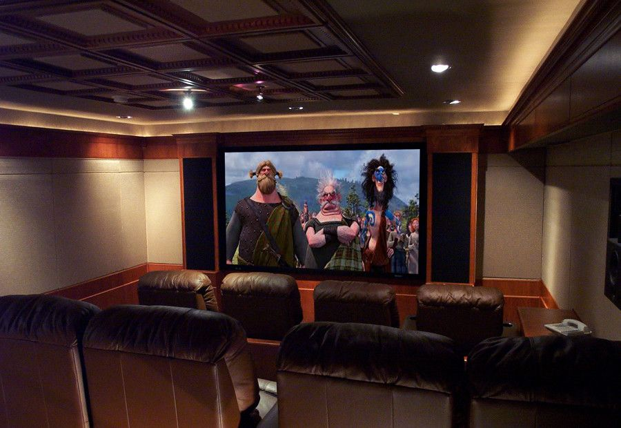 Maple Grove Theater for a Transitional Home Theater with a Home Theater and Maple Drive by Innovative Theatres