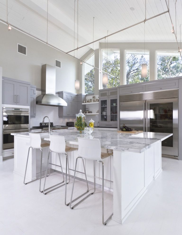 Marble Institute of America for a Contemporary Kitchen with a Large Windows and Kitchen by Hobus Homes