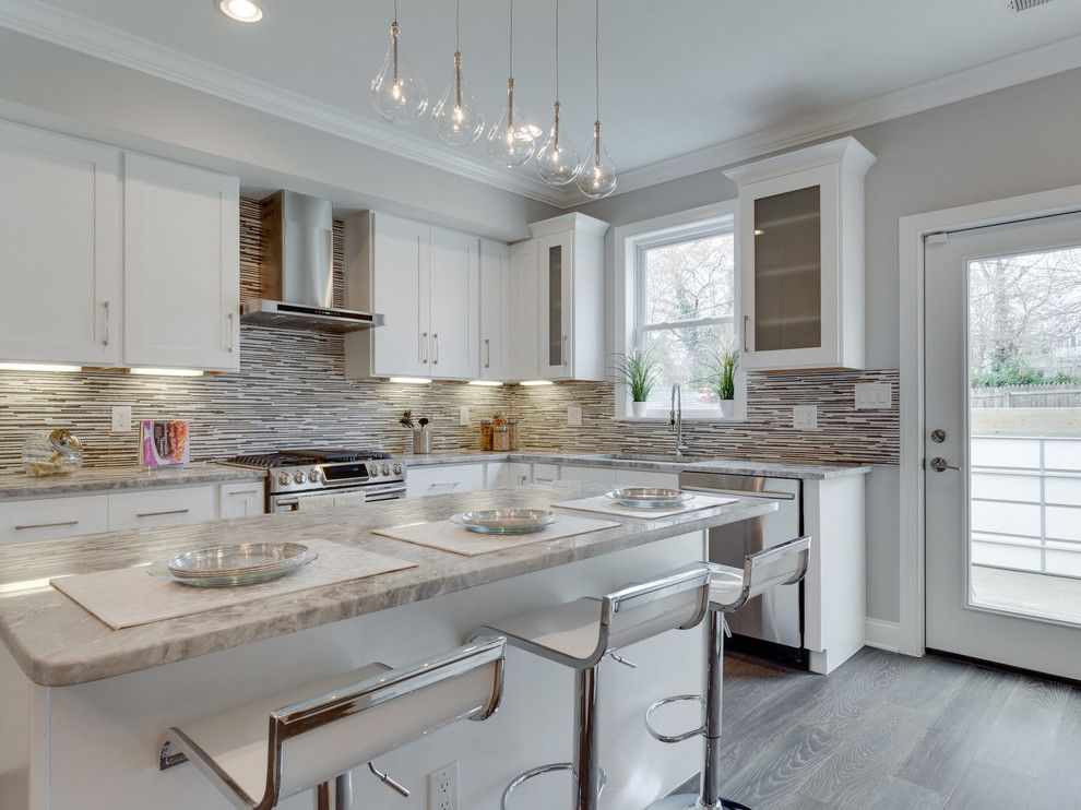 Marble Institute of America for a Transitional Kitchen with a Glass Doors and 14th Street, Washington Dc by Porcelanosa