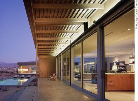 Marmol Radziner for a Modern Exterior with a Covered Patio and Marmol Radziner Prefab by Marmol Radziner