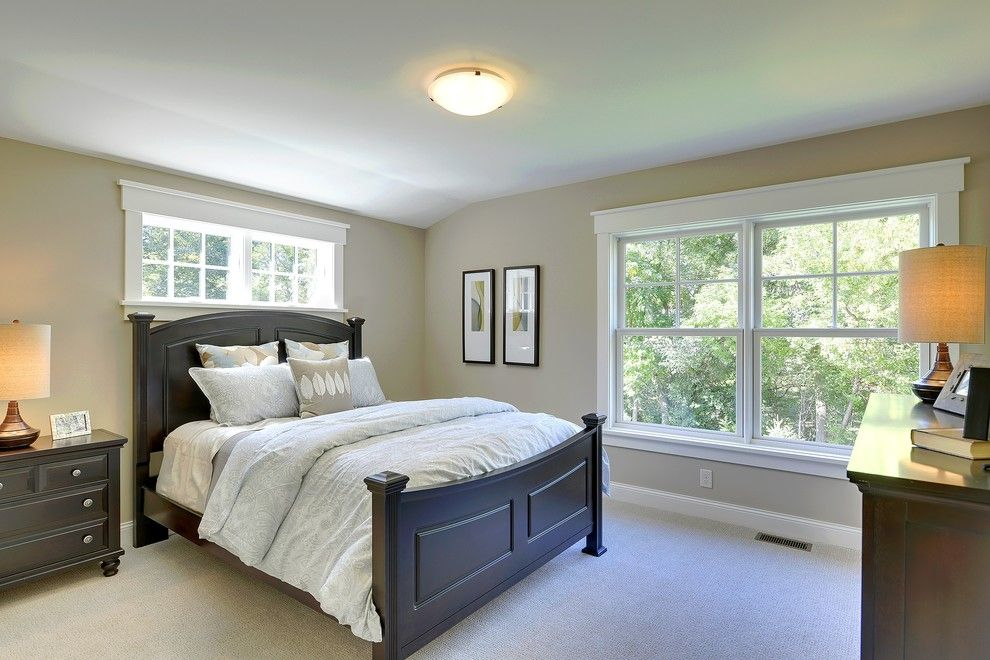 Marvin Integrity for a Traditional Bedroom with a White Window Trim and 2013 Fall Parade of Homes by Highmark Builders