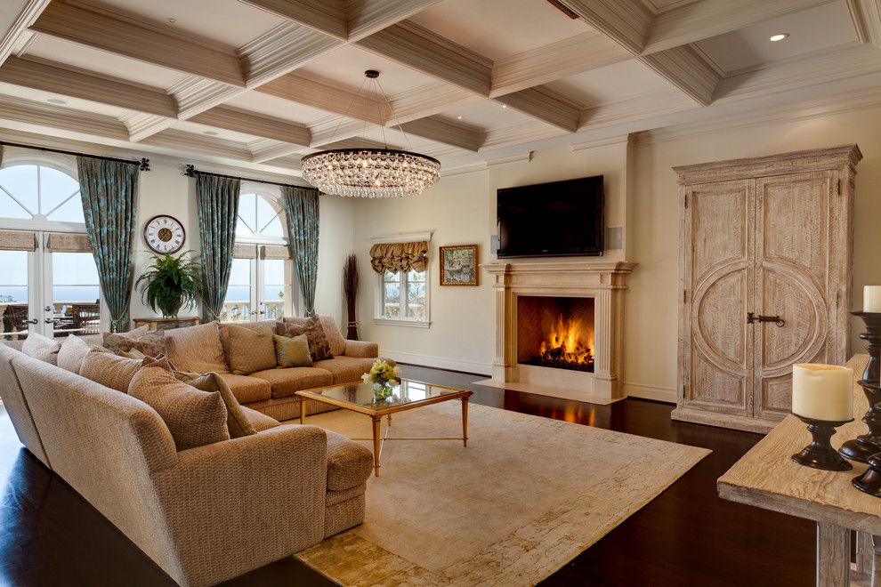 Masins Furniture for a Traditional Family Room with a Window Treatments and So/da Inc. by So/da Inc.