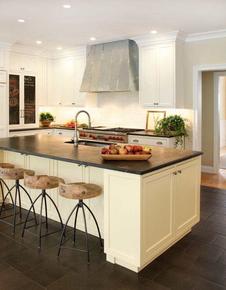 Masins Furniture for a Transitional Kitchen with a Wood Stools and Kitchen Renovation by Aj Margulis Interiors