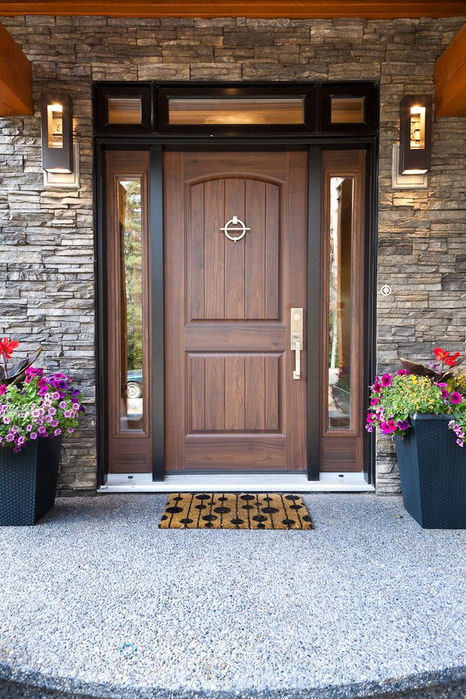 Masonite Doors for a Contemporary Exterior with a Contemporary and Summit Ii by Habitat Studio & Masonite Doors for a Traditional Exterior with a Doors Glass ...