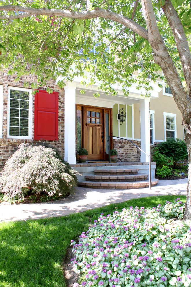 Masonite Doors for a Traditional Exterior with a Entrance and Two Story Exterior and Porch Renovation by Renovation Design Group