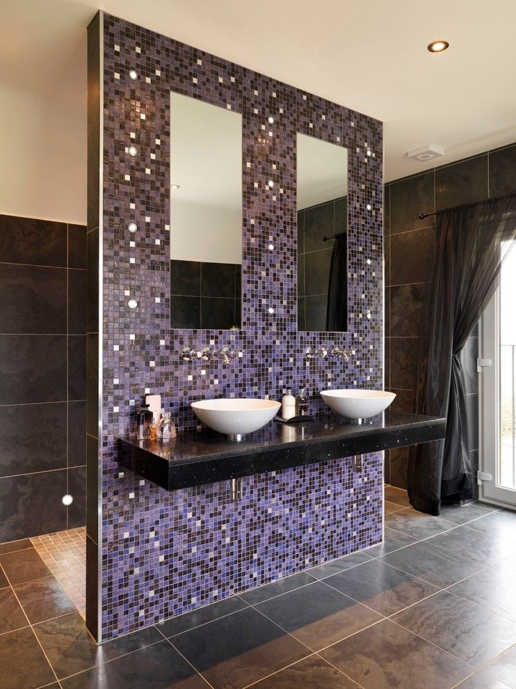 Master Bathroom Layouts for a Contemporary Bathroom with a Slate Floor Tiles and Bedroom to Bathroom by Ripples Bathrooms