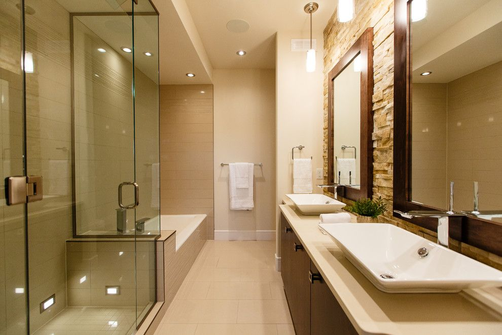 Master Bathroom Layouts For A Transitional Bathroom With A Bathroom Hardware  And Deveraux Show Home By