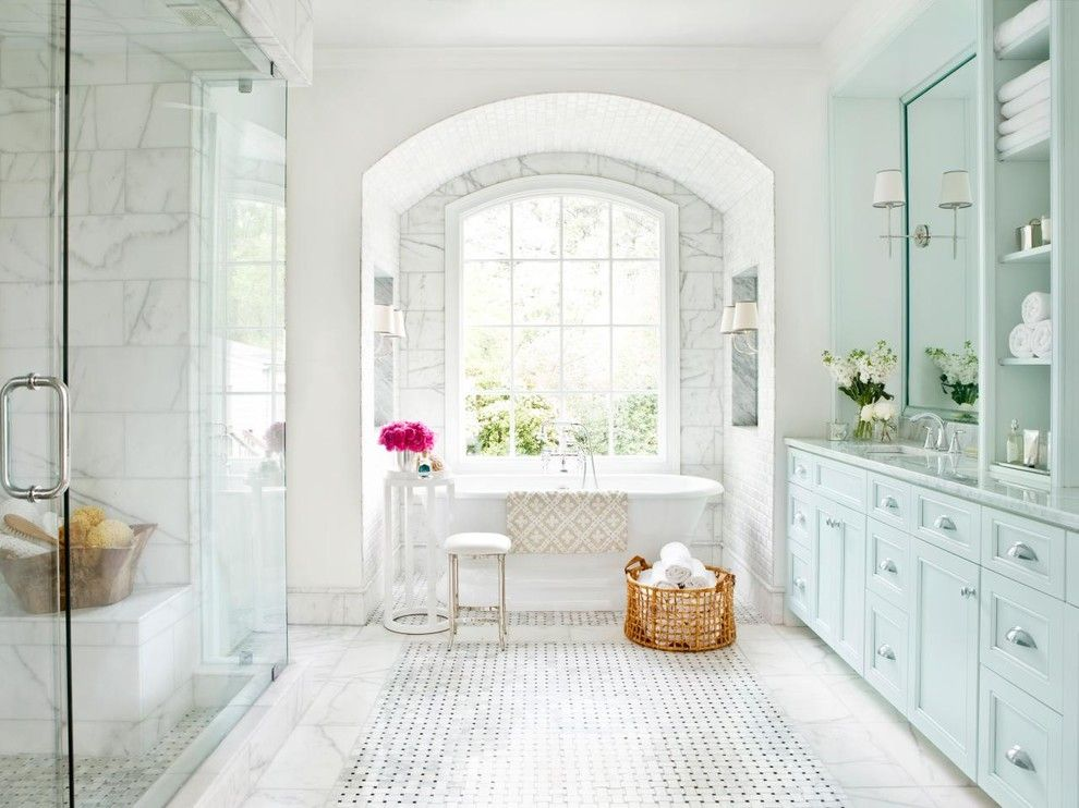 Master Bathroom Layouts for a Victorian Bathroom with a Spa Bathroom and Bathrooms by Litchfield Hills Marble and Granite