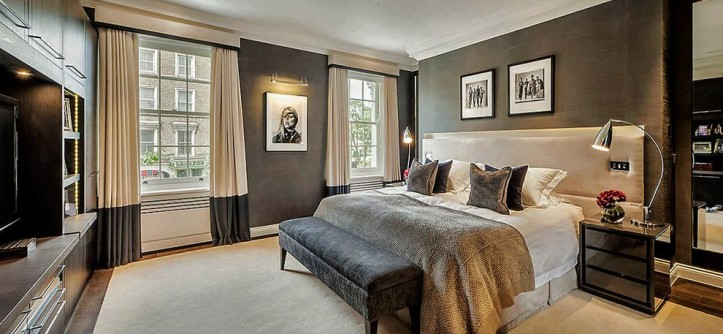 Master Bedroom Decorating Ideas for a Contemporary Bedroom with a Mens Bedroom and CHELSEA TOWNHOUSE by Compass and Rose