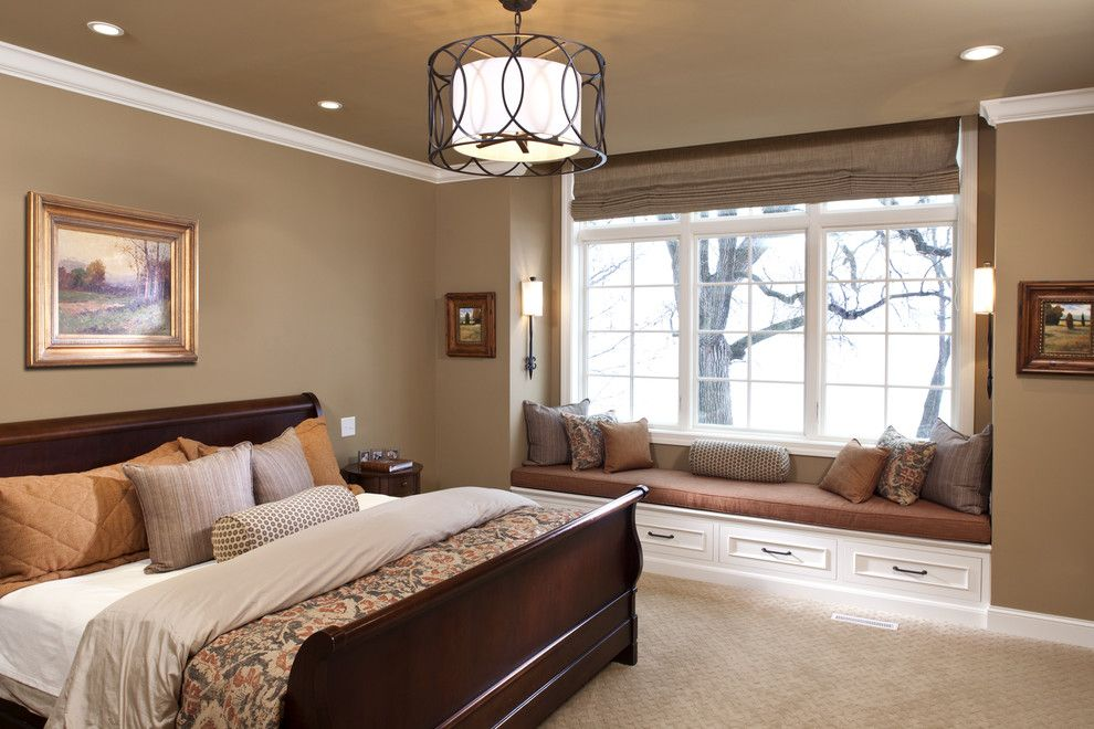 Master Bedroom Decorating Ideas for a Traditional Bedroom with a Pillows and Lake Minnewashta Remodel by Stonewood, Llc