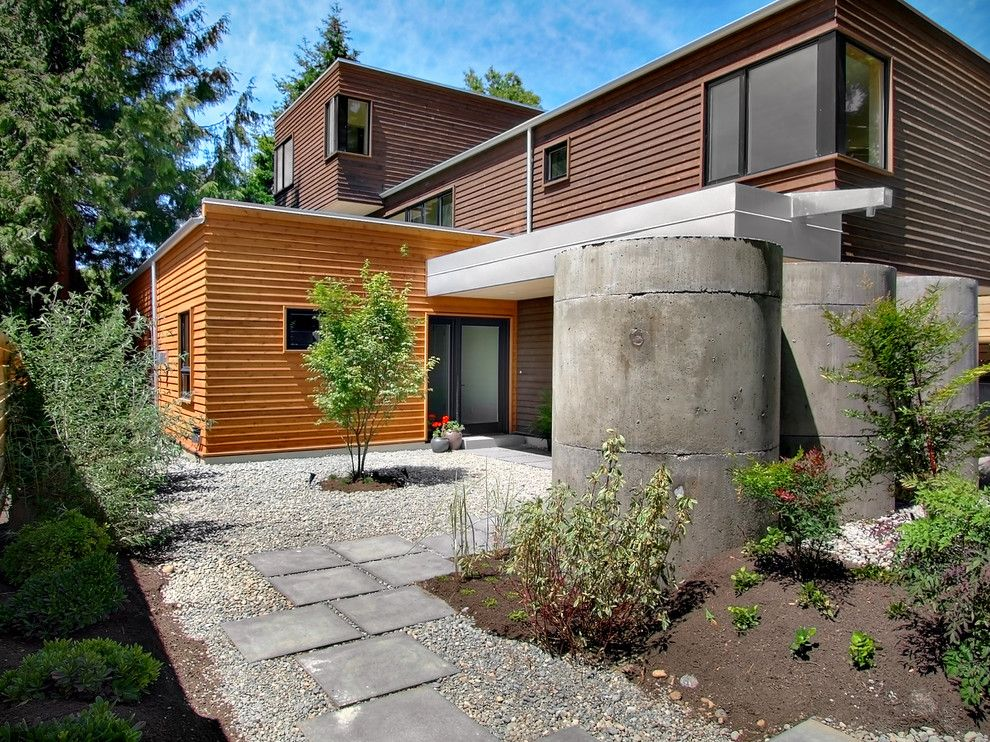 Matthews Building Supply for a Contemporary Exterior with a Potted Plants and Greenlake Modern Home by Fivedot