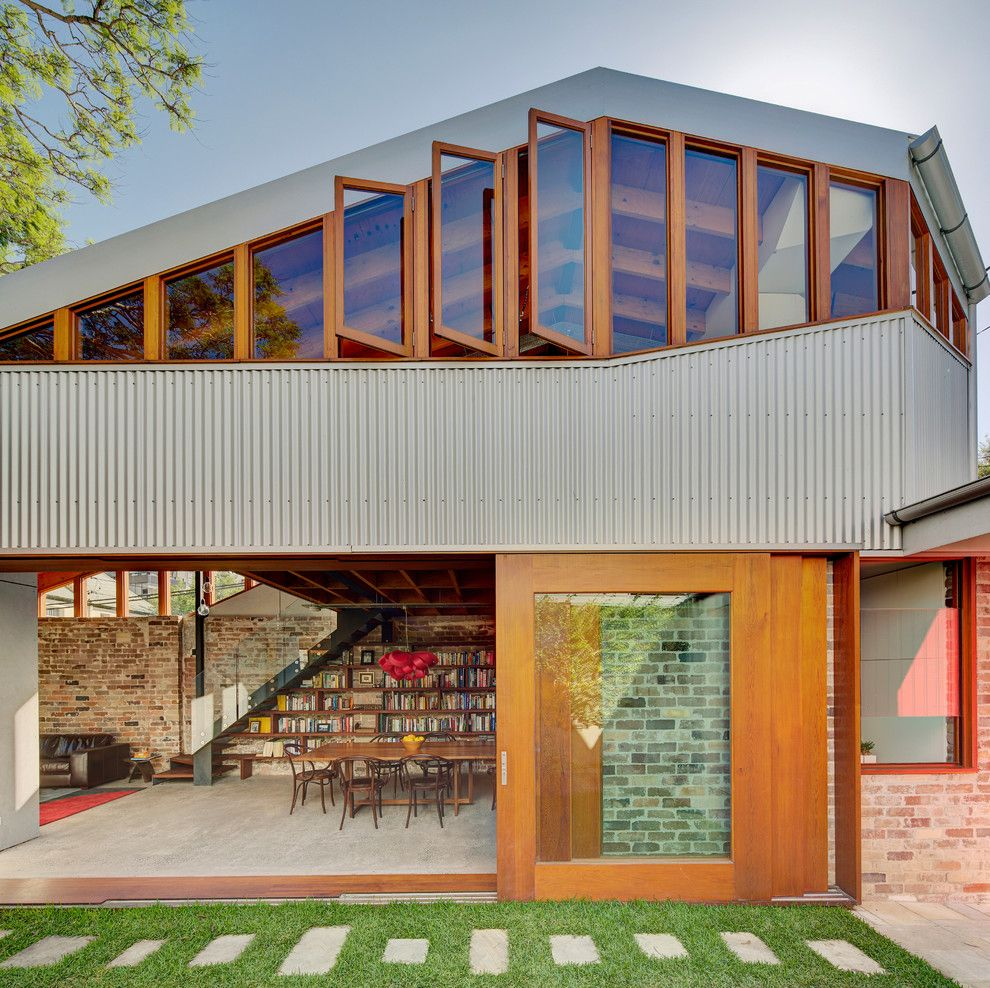 Matthews Building Supply for a Industrial Exterior with a Recycled Bricks and Cowshed House by Carterwilliamson Architects