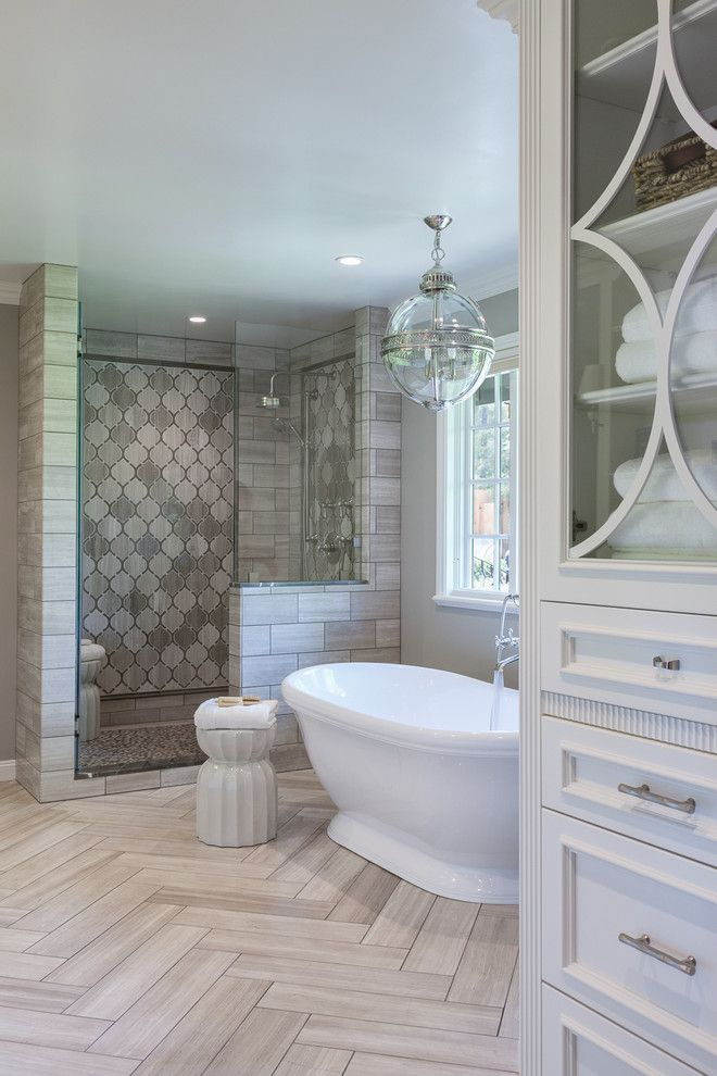 Matthews Building Supply for a Traditional Bathroom with a Arabesque Tile and Bathrooms by Artistic Tile & Stone