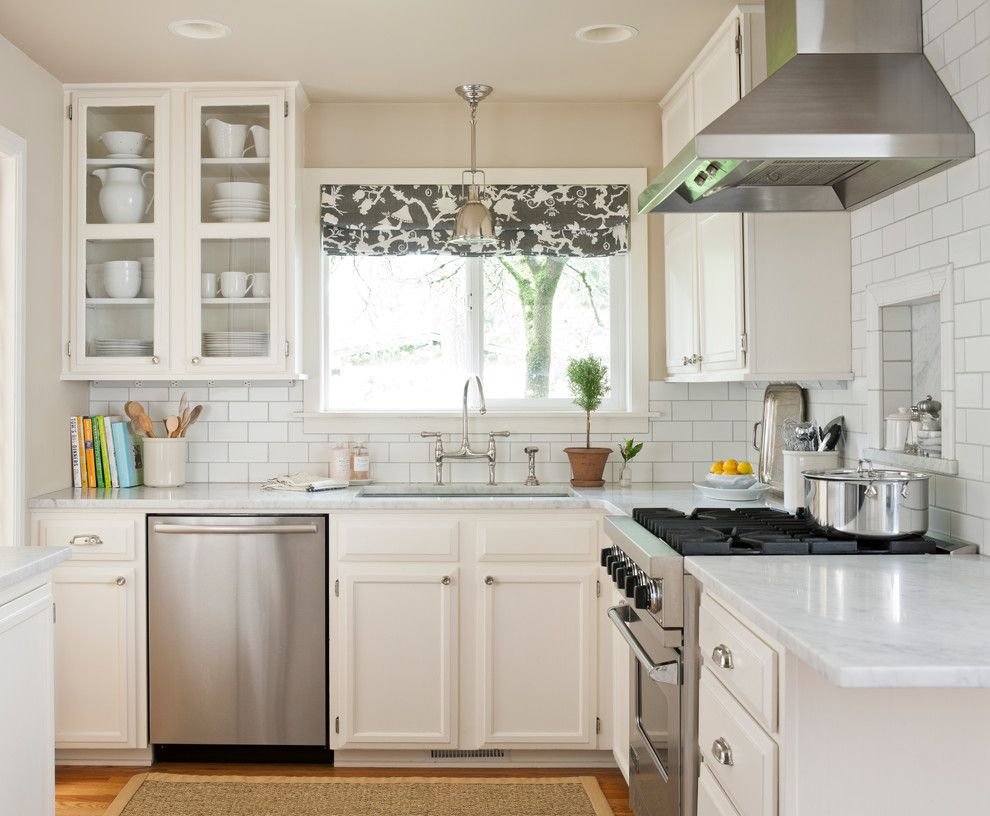 Matthews Building Supply for a Traditional Kitchen with a Range Hood and Bellevue Residence by Marianne Simon Design