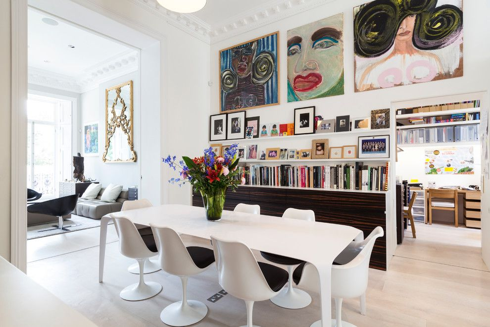 Maxalto for a Contemporary Dining Room with a Property and Hyde Park Gardens, London, W2 by Domus Nova