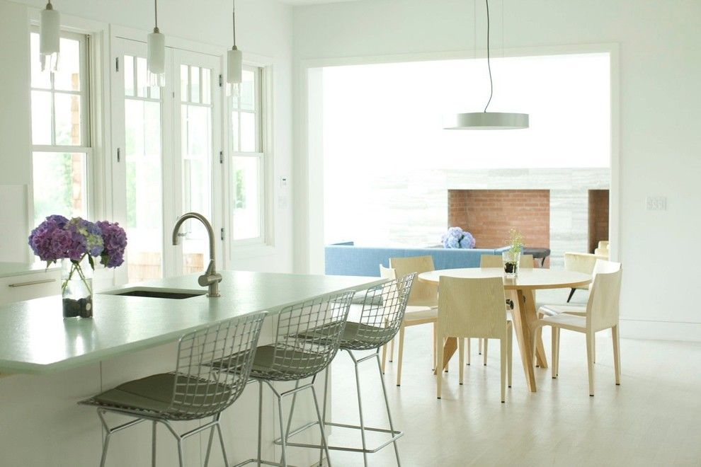 Maxalto for a Modern Kitchen with a Jean Prouve and Watermill Residence by Andy Goldsborough Interior Design