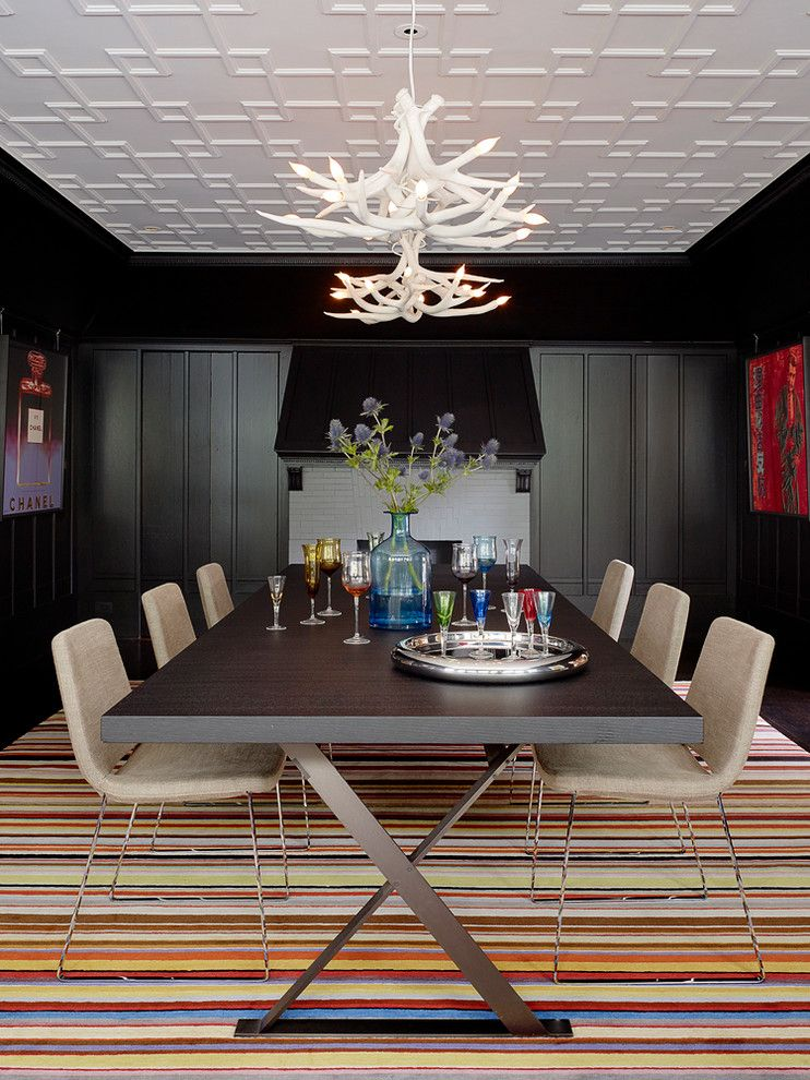 Maxalto for a Transitional Dining Room with a Ceiling Detail and Pacific Heights by John K. Anderson Design