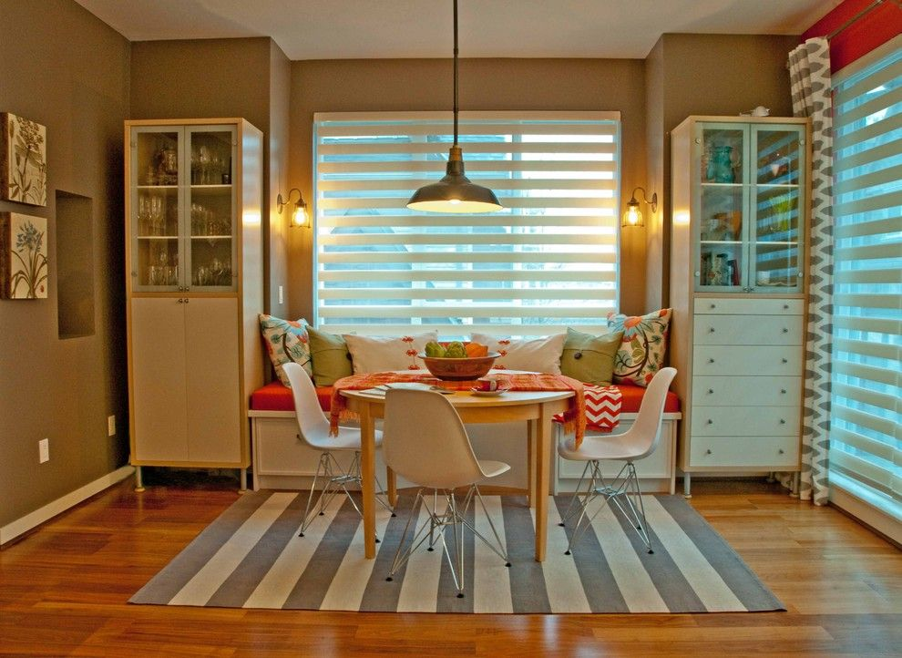 Maxwell Fabrics for a Eclectic Kitchen with a Barnboard Wall Paint Colour and Jil Sonia Interiors, Surrey, Bc by Jil Sonia Interiors