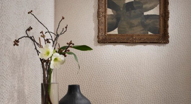 Maya Romanoff for a  Spaces with a Wallpaper and Calm & Collected by Maya Romanoff