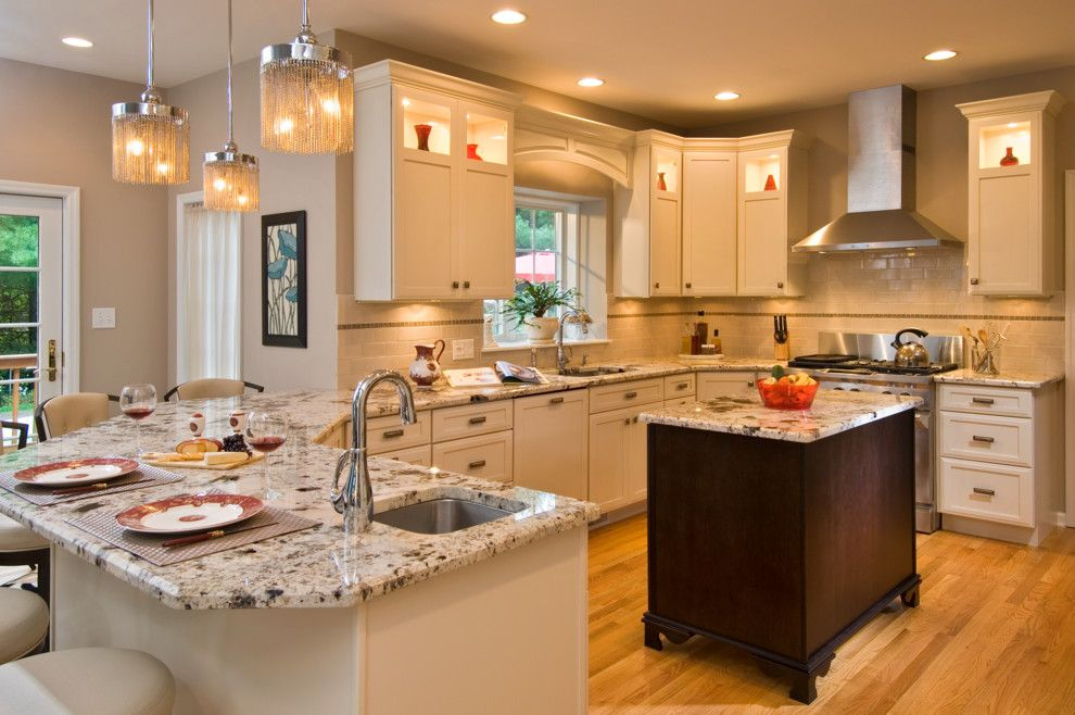 Mayer Lighting for a Contemporary Kitchen with a Pendant Lighting Kitchen and Kitchen Design, Renovation and Installation Delmar 2010 by Kitchen and Bath World, Inc