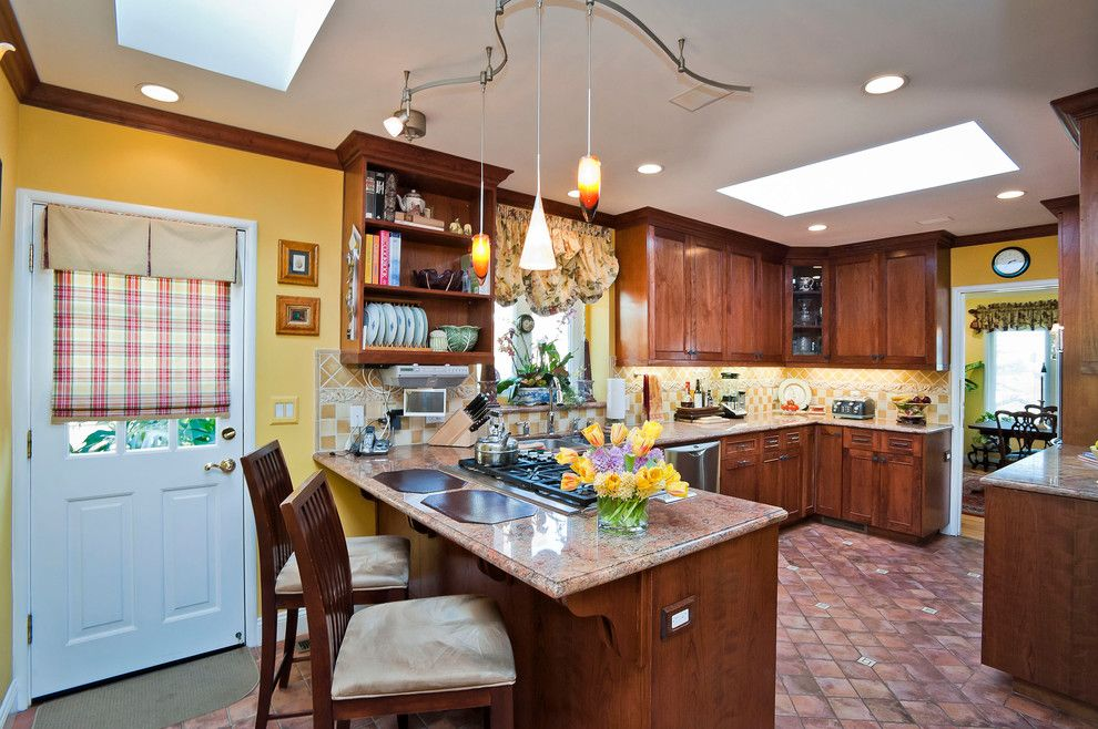 Mayer Lighting for a Traditional Kitchen with a Raised Panel and Georgetown by Dennis Mayer, Photographer