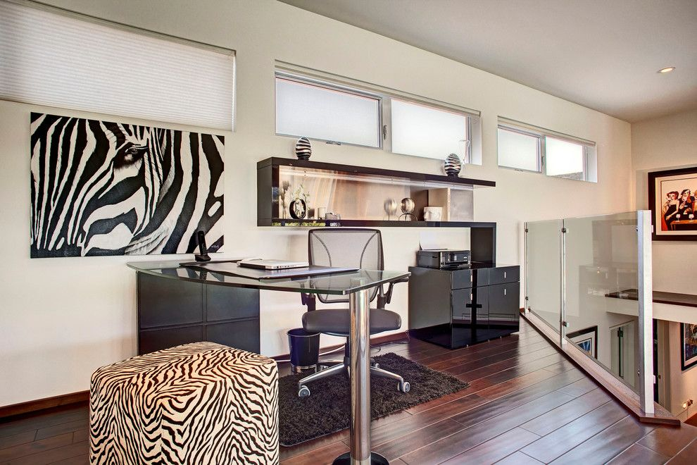 Mcelroy Metal for a Eclectic Home Office with a Animal Print and McElroy Project by Cantoni Designer Sarah Monaghan