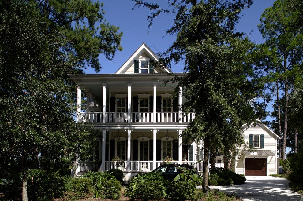 Mcelroy Metal for a Traditional Exterior with a Lowcountry and Palmetto Bluff Village Home  |  Bluffton, South Carolina by Historical Concepts