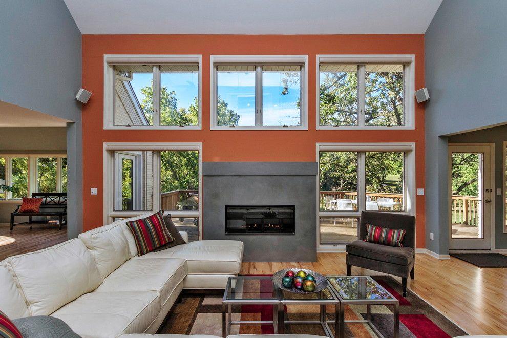 Mchsi for a Contemporary Living Room with a Sectional and Contemporary Living Room by Monarch renovations.com
