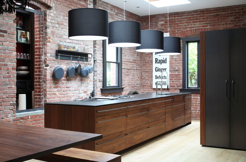 Mcnear Brick for a Contemporary Kitchen with a Brick and Kitchens by the Last Inch