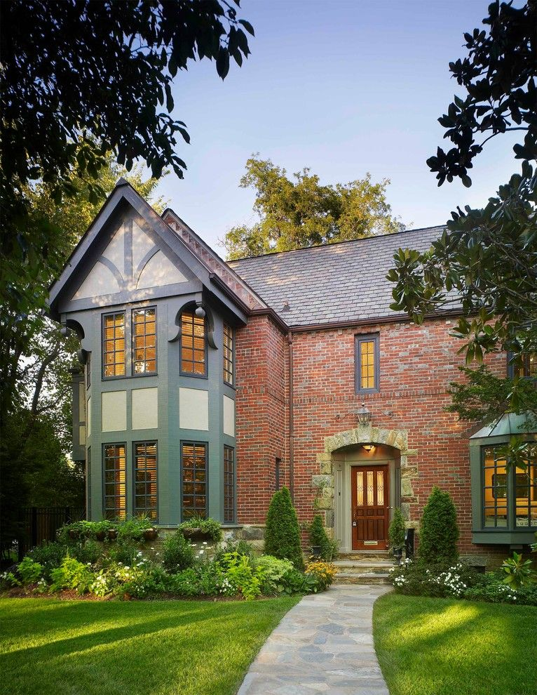 Mcnear Brick for a Traditional Exterior with a Bushes and Heavy Timber Tudor by Luther Paul Weber Aia, Architect