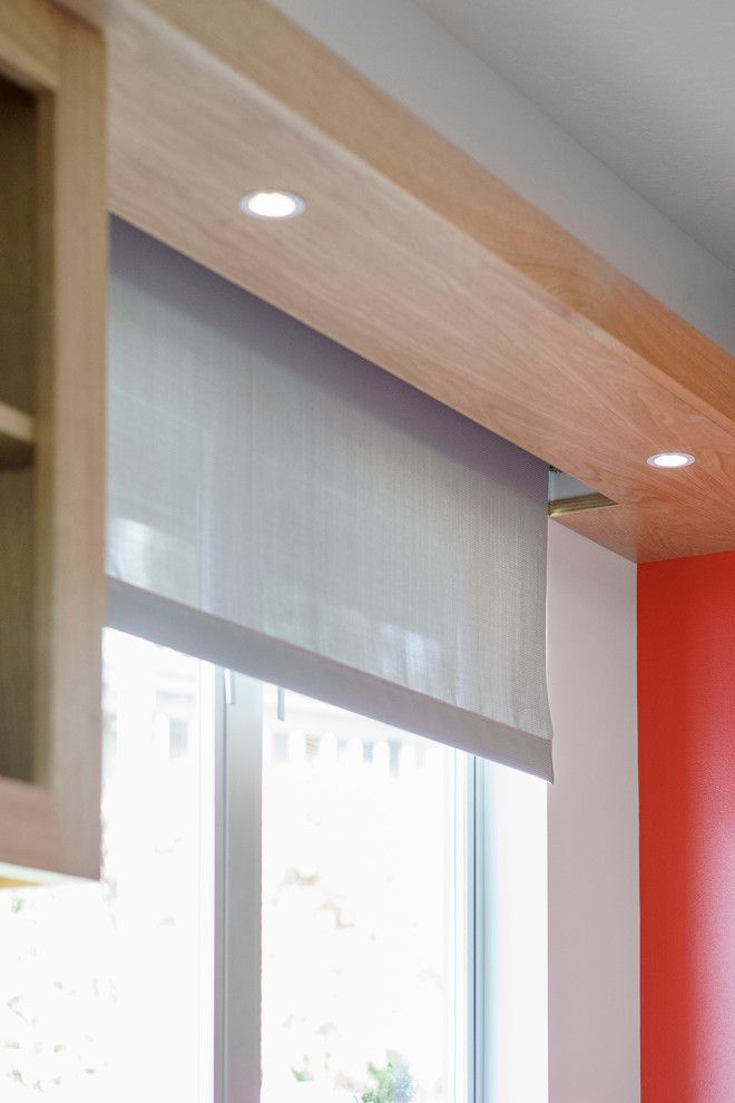 Mecho Shades for a Contemporary Kitchen with a Mechoshade and Bay Area Remodel by Hart Wright Architects, Aia