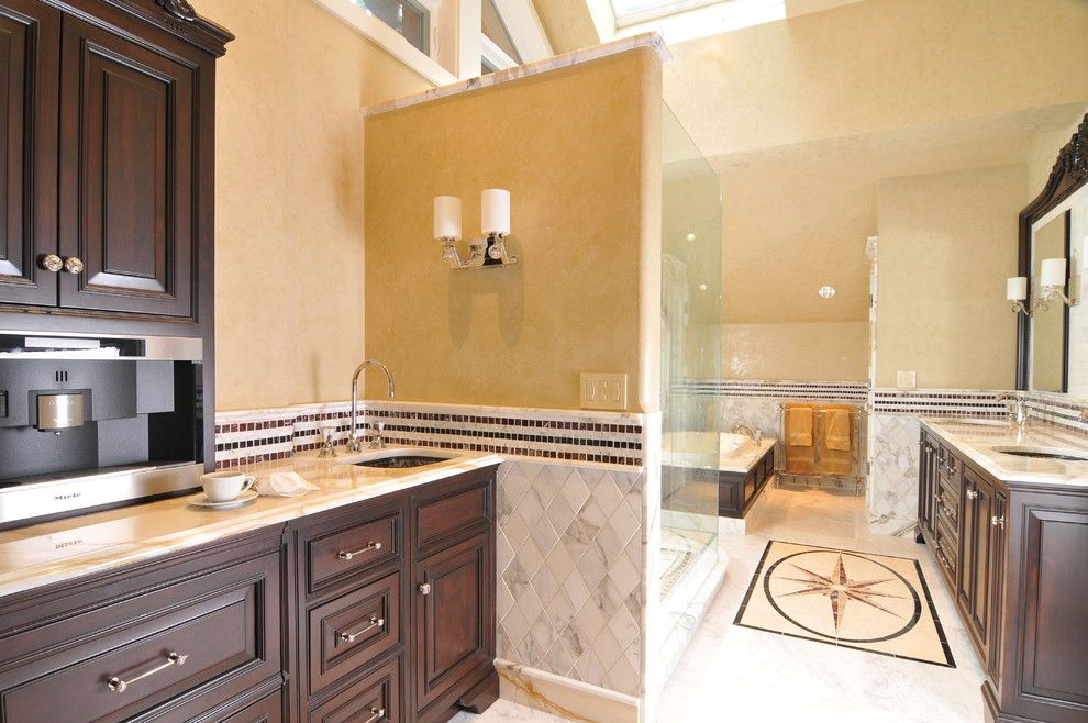 Medallion Cabinets for a Traditional Bathroom with a Bathroom Storage and Leslie Jensen, Cmkbd by Signature Design & Cabinetry Llc