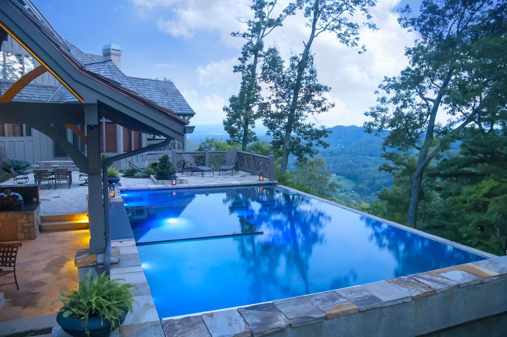 Medallion Pools for a Contemporary Pool with a Infinity Edge Pool and Cloud Pool by Medallion Pool Co.