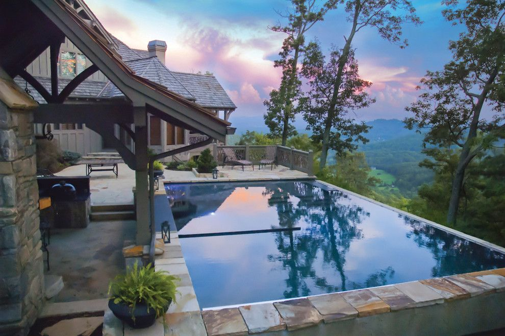 Medallion Pools for a Contemporary Pool with a Wet Deck and Cloud Pool by Medallion Pool Co.