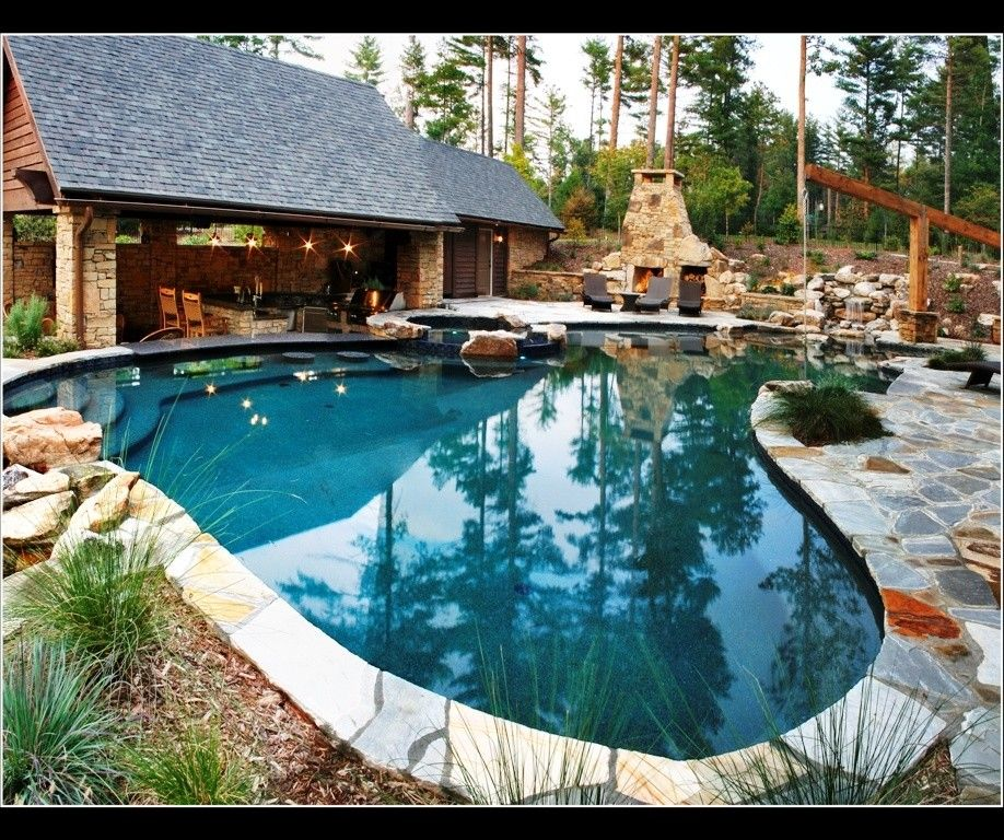 Medallion Pools for a Traditional Pool with a Traditional and Medallion Pool Co. by Medallion Pool Co.