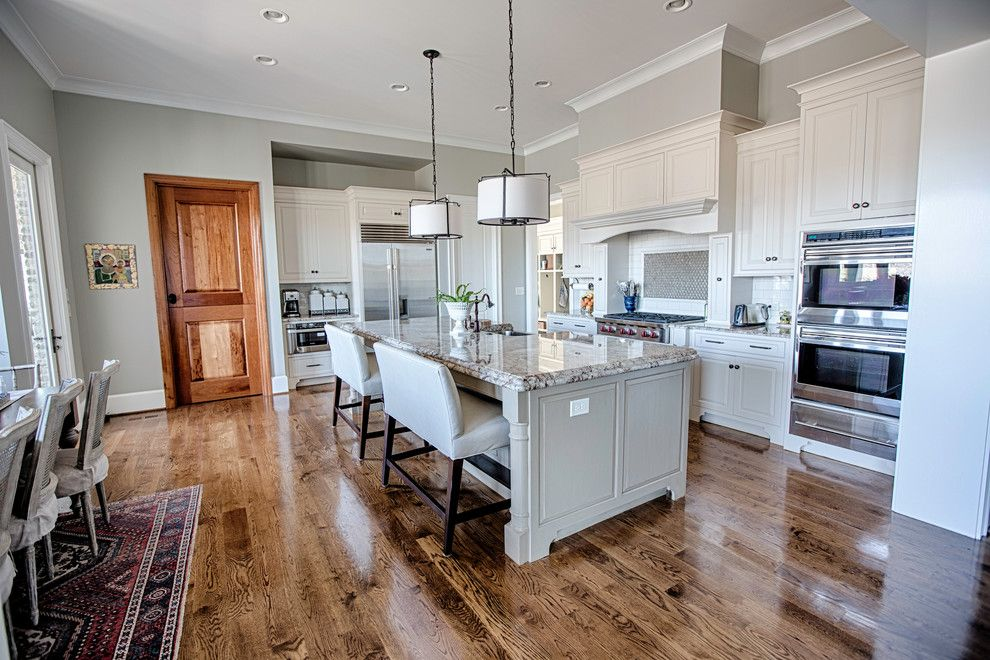 Mega Granite for a Traditional Kitchen with a Cooktop and 49 Harbor Ridge by Toulmin Homes