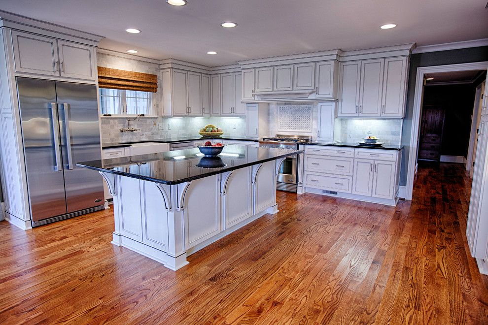 Mega Granite for a Traditional Kitchen with a Reveal Cabinets and the Downs | Complete Home Rebuild Tornado by Toulmin Cabinetry and Design
