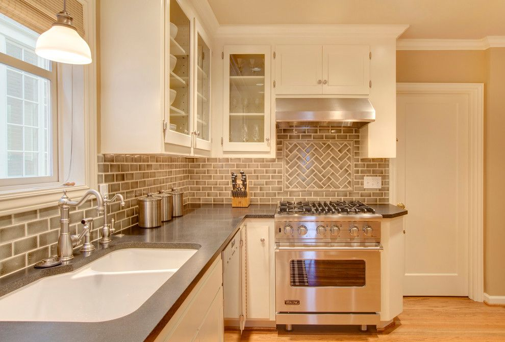Mega Granite for a Traditional Kitchen with a White Kitchen Sink and Madison Park Residence by Michael Knowles, Architect