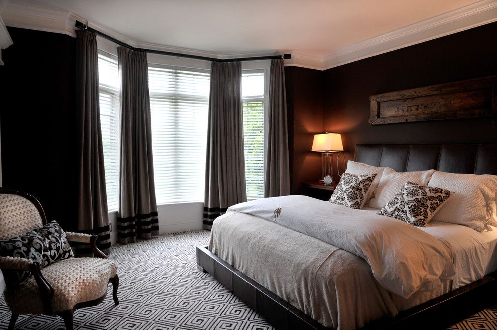 Mens Bedroom Ideas for a Contemporary Bedroom with a Custom Window Treatments and Ny Estate by a Perfect Placement