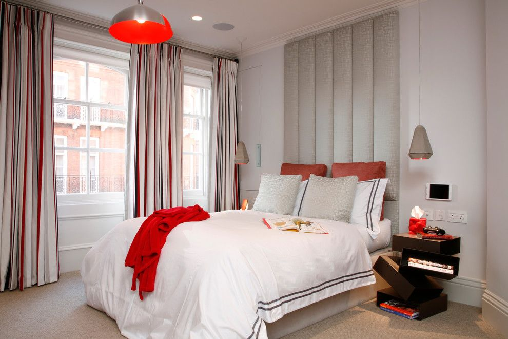 Mens Bedroom Ideas for a Contemporary Bedroom with a Dream House and Kensington, London, Uk by Morph Interior Ltd