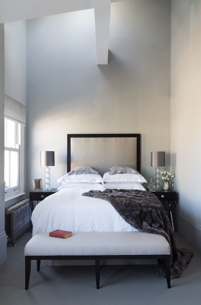Mens Bedroom Ideas for a Contemporary Bedroom with a Exposed Beam and Mark Feehily Collaboration by Cochrane Design