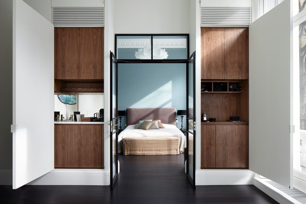 Mens Bedroom Ideas for a Contemporary Bedroom with a Guys Bedroom and Emperors Gate by Dyer Grimes Architecture
