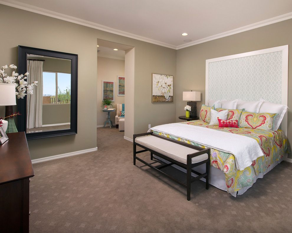 Meritage Homes Az for a Contemporary Bedroom with a End of Bed Bench and the Sabine Plan at Sky Ranch | Tucson, AZ by Meritage Homes