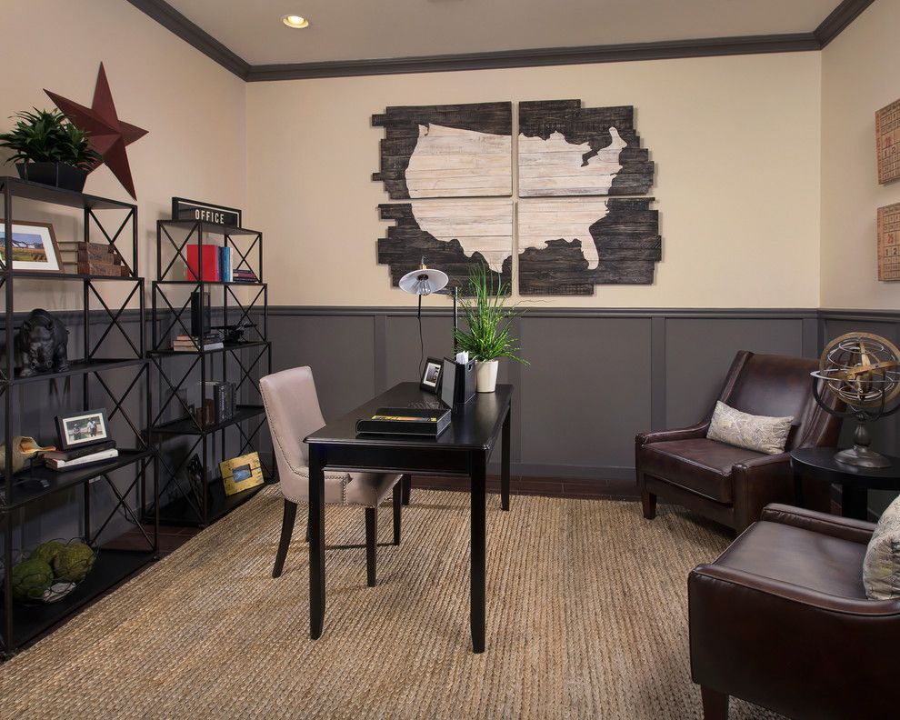 Meritage Homes Az for a Contemporary Home Office with a Wood Flooring and the Sabine Plan at Sky Ranch | Tucson, Az by Meritage Homes