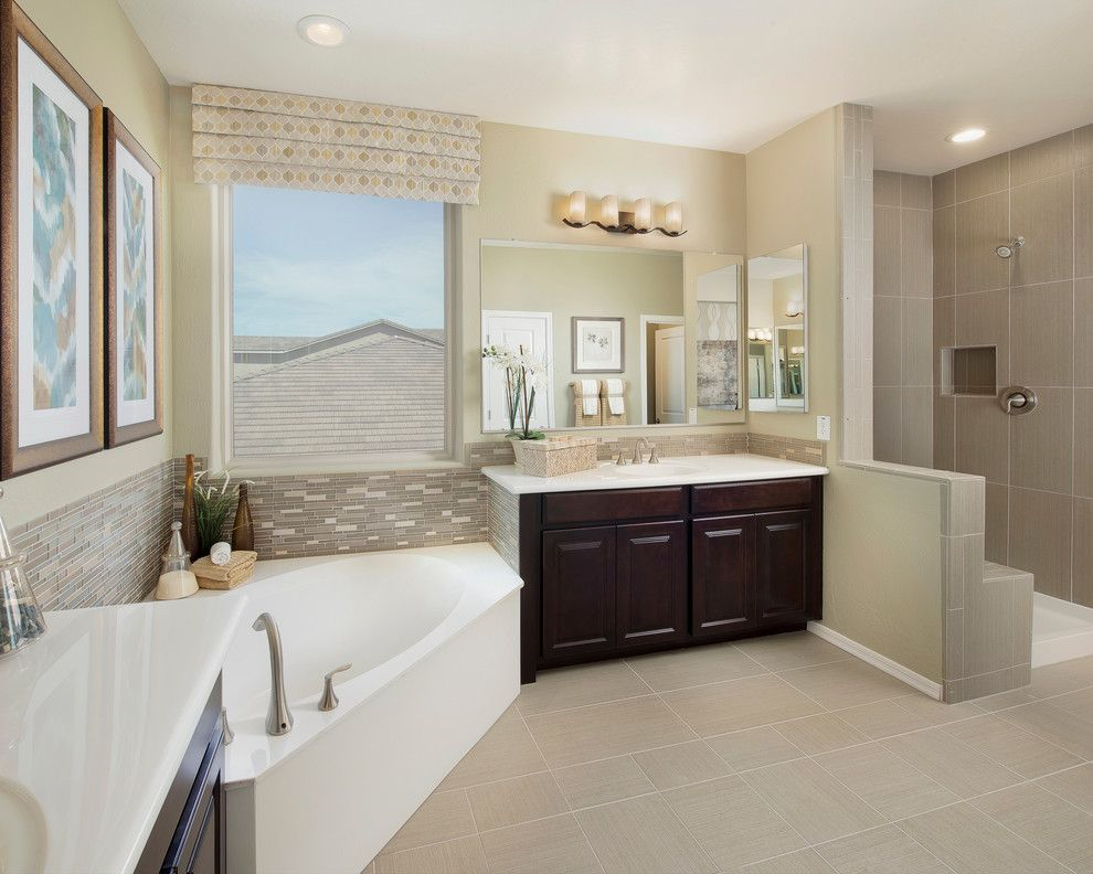 Meritage Homes Az for a Traditional Bathroom with a Ledge and Pine Vallley Plan at Victoria | Phoenix, Az by Meritage Homes
