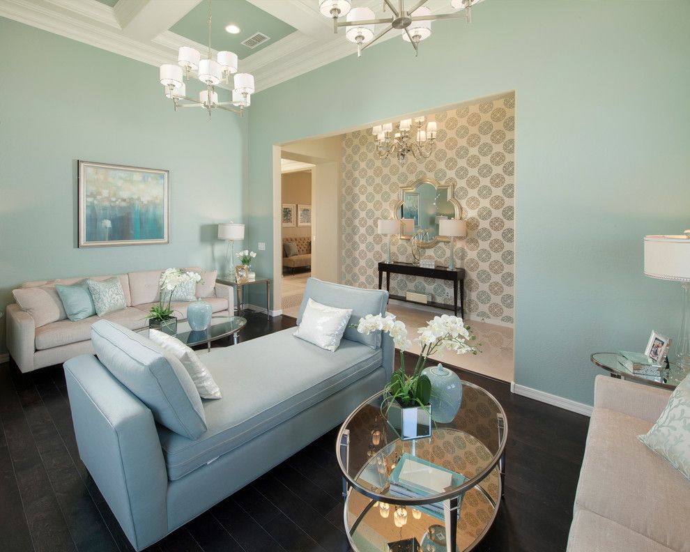 Meritage Homes Az for a Traditional Family Room with a Coffered Ceiling and Concord Plan at Victoria | Phoenix, Az by Meritage Homes