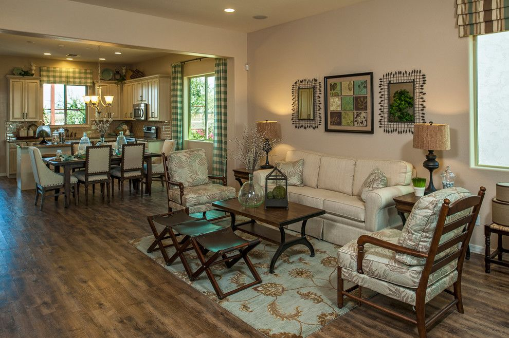 Meritage Homes Az for a Traditional Family Room with a Kitchen and the Tamarisk Plan at Villages at Val Vista | Phoenix, Az by Meritage Homes