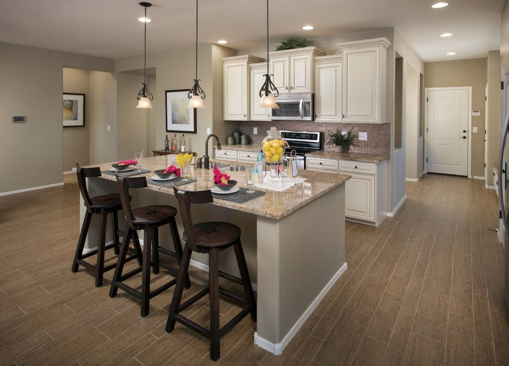 Meritage Homes Az for a Traditional Kitchen with a Small Pendant Lights and the Catalina Plan at Tangerine North | Tucson, Az by Meritage Homes