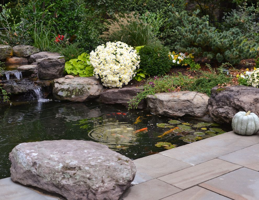 Merrifield Garden Center for a Contemporary Patio with a Flagstone and Koi Pond and Patio by Merrifield Garden Center