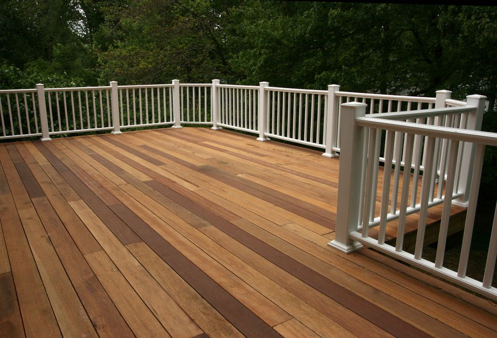 Merrifield Garden Center for a Traditional Deck with a Deck and Deck with White Railings by Merrifield Garden Center